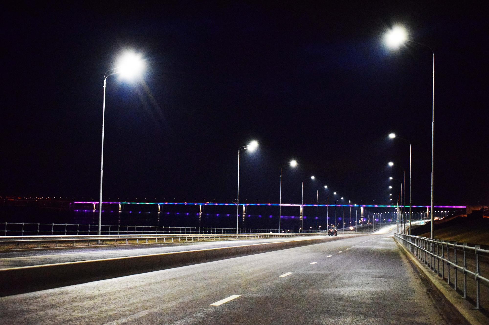 Нарокадной автодороги вВолгограде появилось освещение