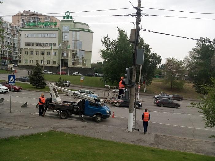 Светофоры вВолгограде снабдят электронными табло