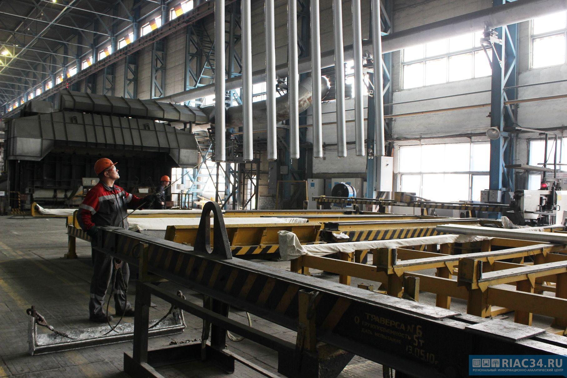 Объем производства волгоградской промышленности вырос на 110 млрд рублей