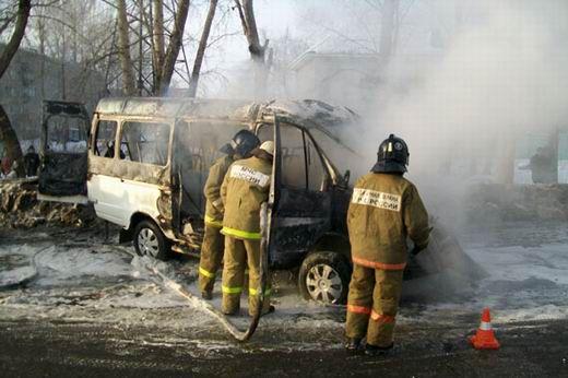 ВКамышине сгорела «ГАЗель»