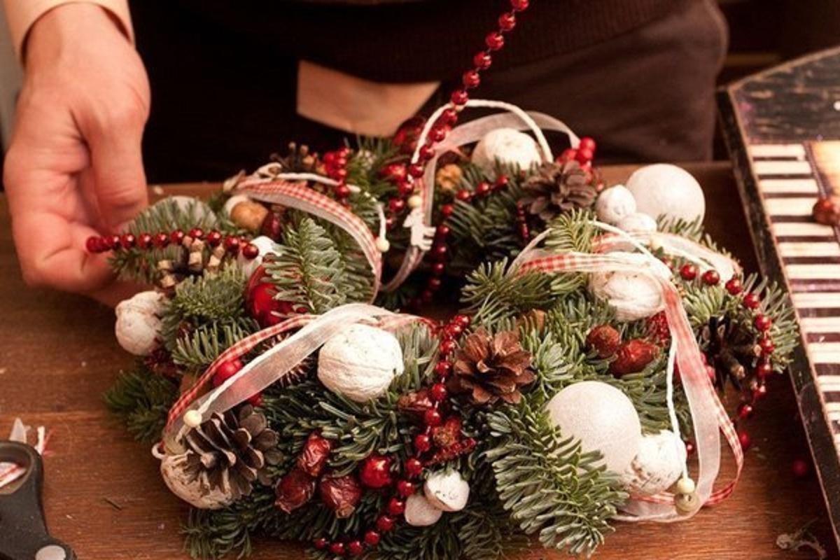 Рождественские венки своими руками мастер-класс