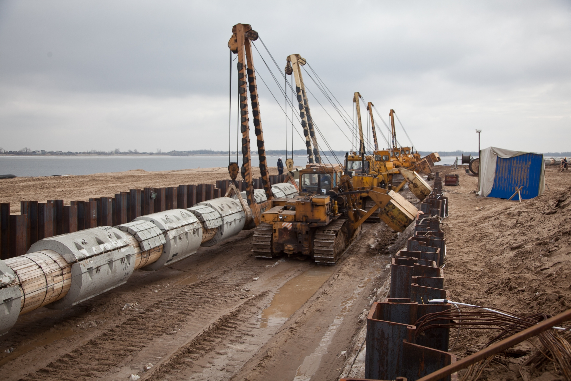 Необычайный подводный коллектор вВолгограде готов на85%