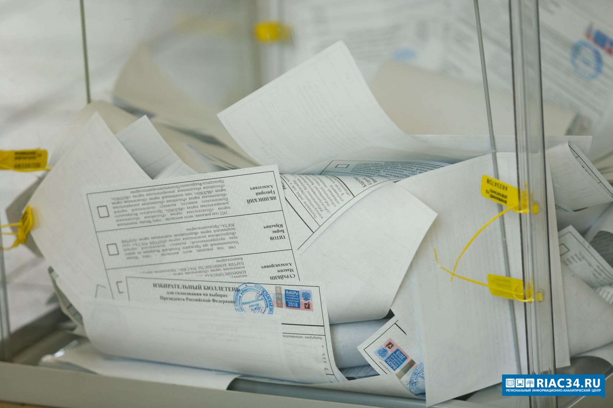 В Волгоградской области закрылись избирательные участки и начался подсчет голосов