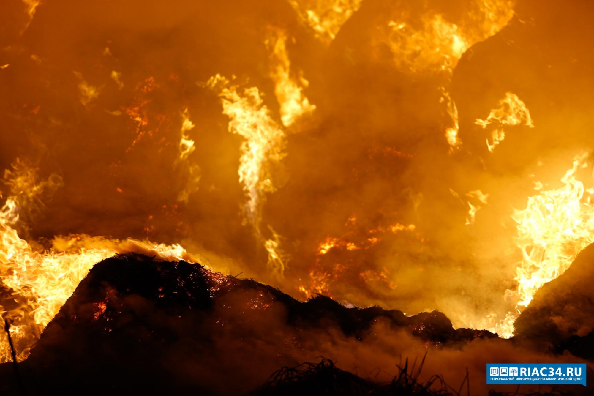Наострове Зеленый под Волгоградом впожаре пострадал мужчина